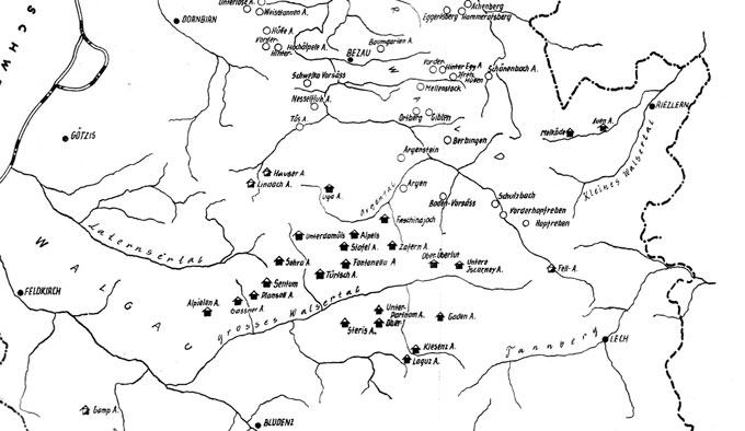 Die Alpdörfer in Vorarlberg