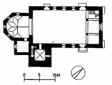 Grundriss Mittelberger Kirche