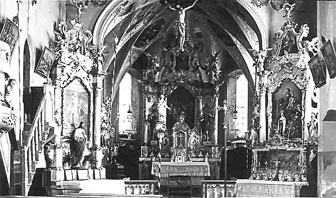 Innenansicht Kirche Lech