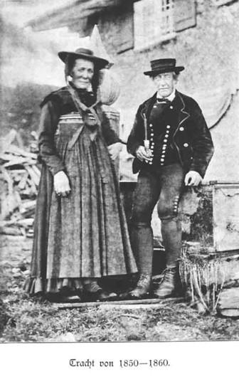 Tracht von 1850-1860