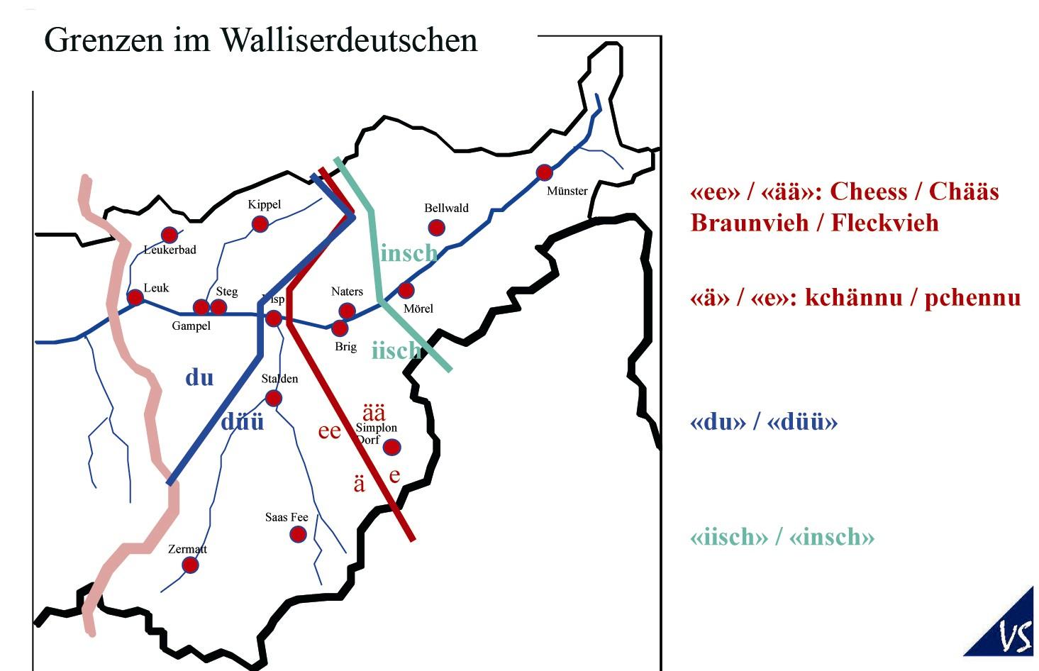 Grenzen im Walliserdeutschen