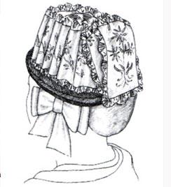 Walliser Trachtenhut Skizze