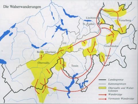 Karte: Walliser Geschichte, Bd. 1+2, Arthur Fibicher
